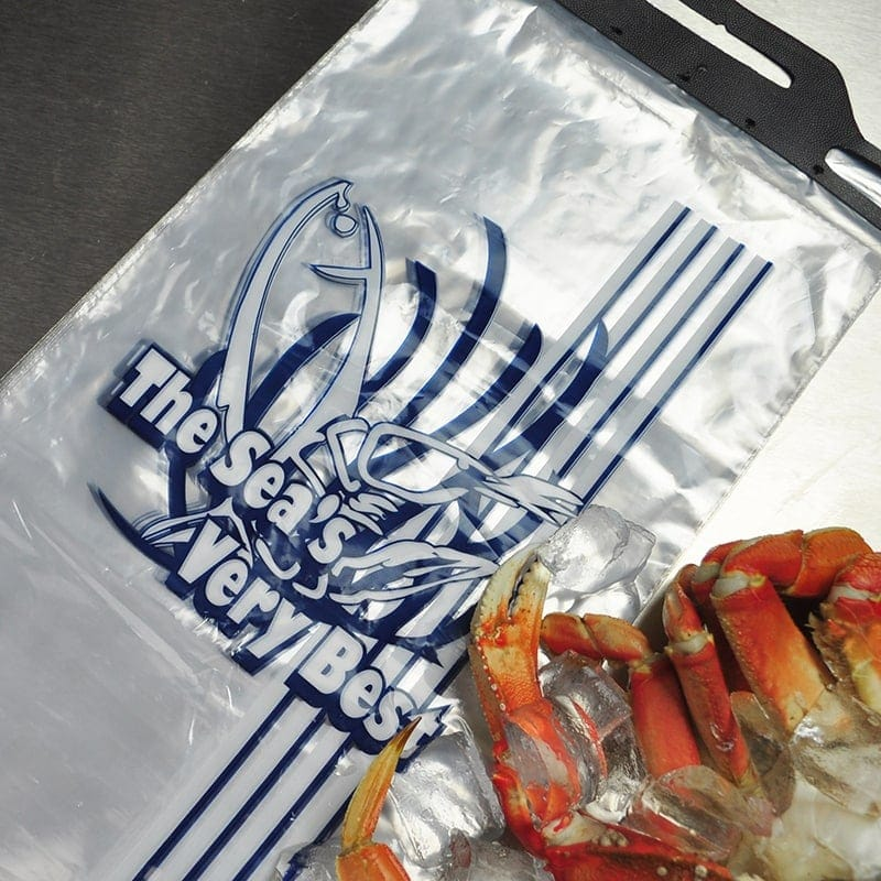 "9"" X 15"" + 2 LP Low Density Printed Seafood Bag"